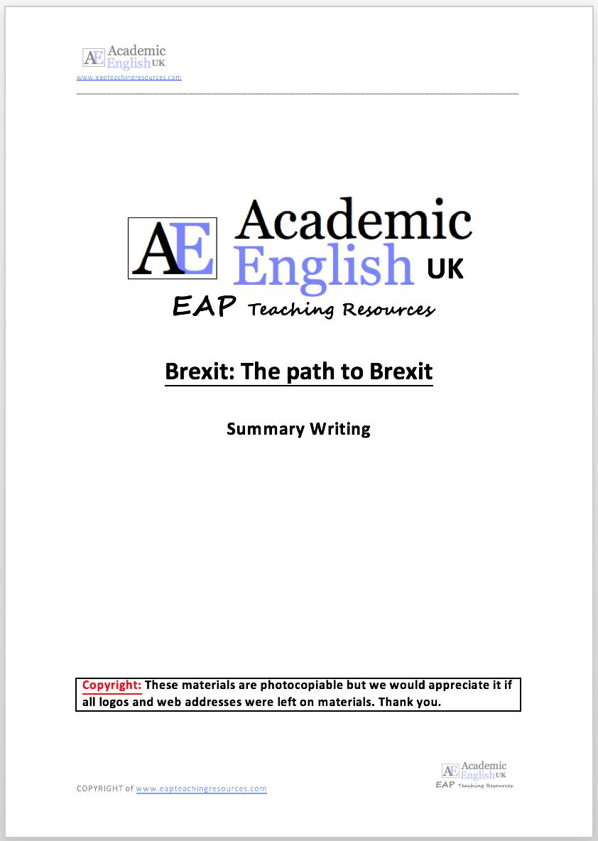 EAP Academic Reading & Summary Writing